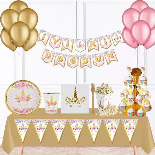 Unicorn Gold FULL Parti Seti 16 Kişilik, fiyatı