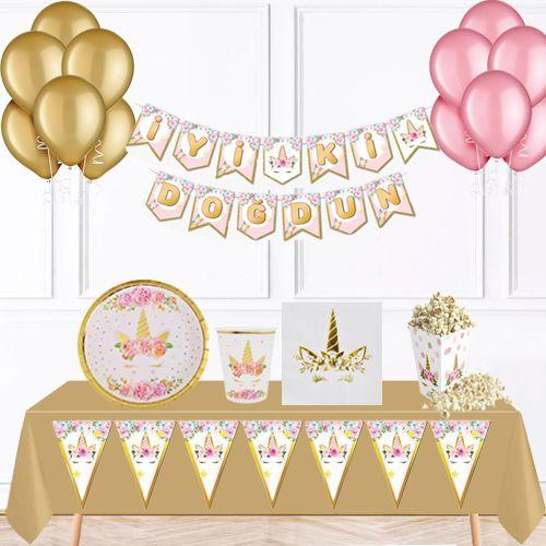 Unicorn Gold Parti Seti 8 Kişilik, fiyatı