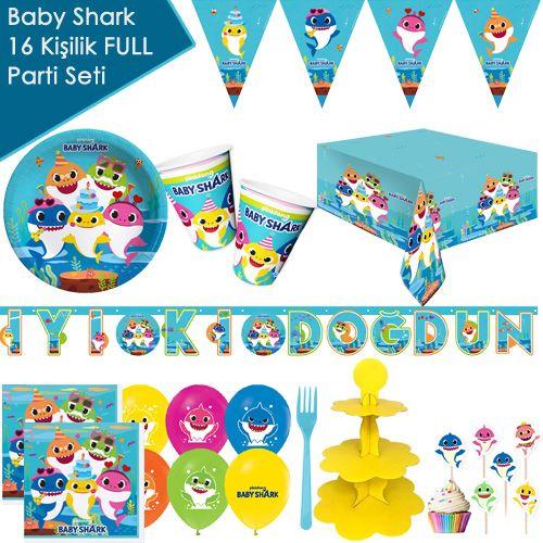 Baby Shark 16 Kişilik ++ Parti Seti, fiyatı