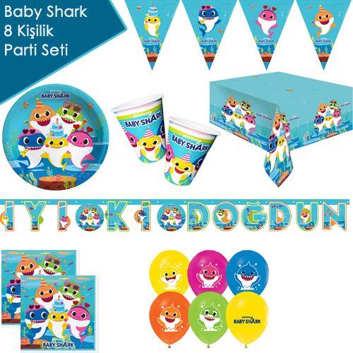 Baby Shark 8 Kişilik Ekonomik Parti Seti, fiyatı