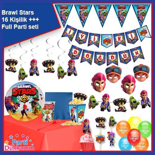 Brawl Stars 16 Kişilik +++ Parti Seti, fiyatı