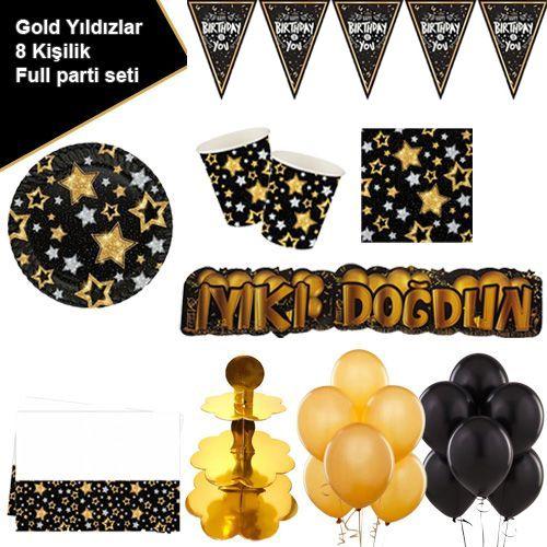 Gold Yıldızlar 8 Kişilik Ekonomik Parti Seti, fiyatı