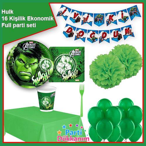 Hulk Parti Seti 16 Kişilik, fiyatı