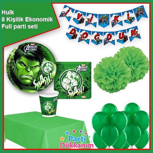 Hulk Parti Seti 8 Kişilik, fiyatı
