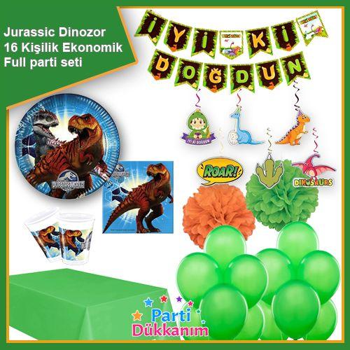 Jurassic World Dinozor Ekonomik Parti Seti 16 Kişilik, fiyatı