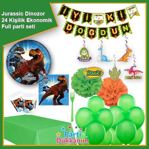 Jurassic World Dinozor Full Parti Seti 24 Kişilik, fiyatı