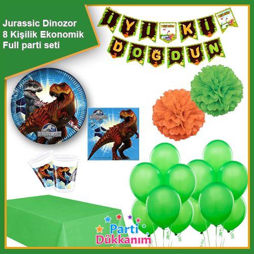 Jurassic World Dinozor Parti Seti 8 Kişilik, fiyatı