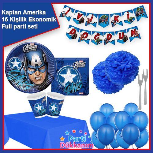 Kaptan Amerika Parti Seti 16 Kişilik, fiyatı