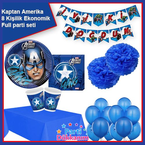 Kaptan Amerika Parti Seti 8 Kişilik, fiyatı