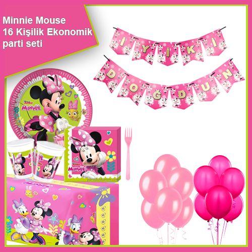 Minnie Mouse Helpers Ekonomik Parti Seti 16 Kişilik, fiyatı