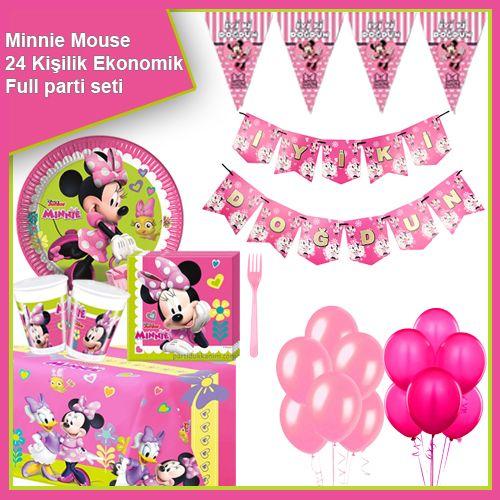 Minnie Mouse Helpers Ekonomik Parti Seti 24 Kişilik, fiyatı