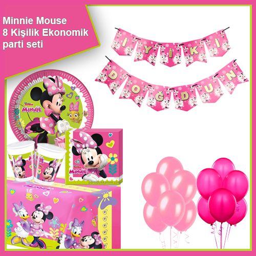Minnie Mouse Helpers Ekonomik Parti Seti 8 Kişilik, fiyatı