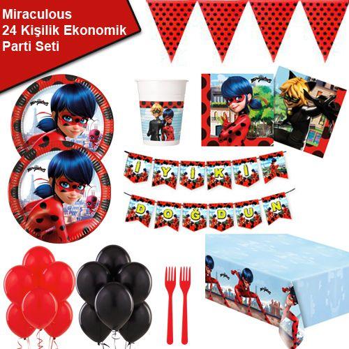Miraculous Ladybug 24 Kişilik Ekonomik Parti Seti, fiyatı