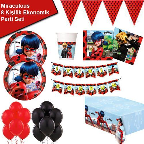 Miraculous Ladybug 8 Kişilik Ekonomik Parti Seti, fiyatı