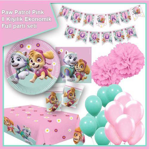 Paw Patrol Pink 8 Kişilik Ekonomik Parti Seti, fiyatı