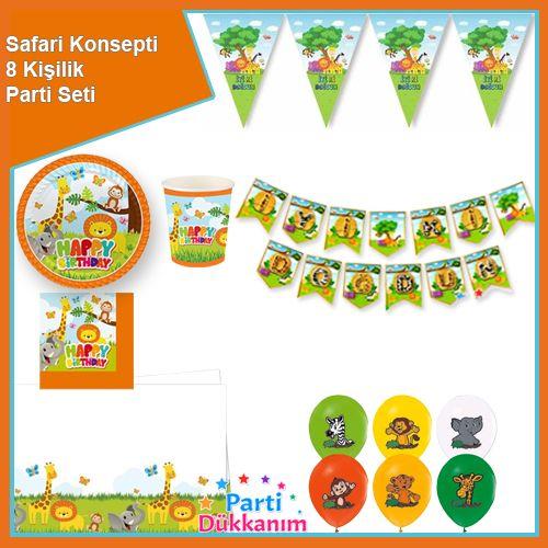 Safari Konsepti Parti Seti 8 Kişilik, fiyatı