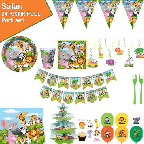 Safari Konsepti Parti Seti 24 Kişilik, fiyatı