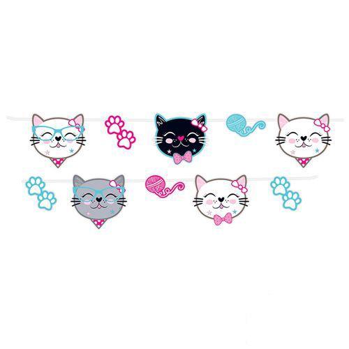 Miss Cat Kedi Dekoratif Banner Pırıltılı 250 cm, fiyatı