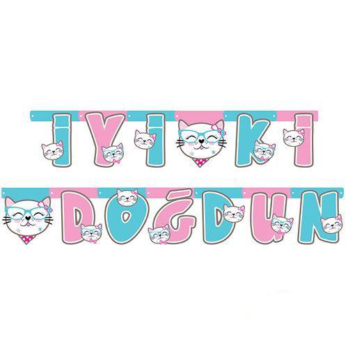 Miss Cat Kedi İyi ki Doğdun Yazısı 230 cm, fiyatı