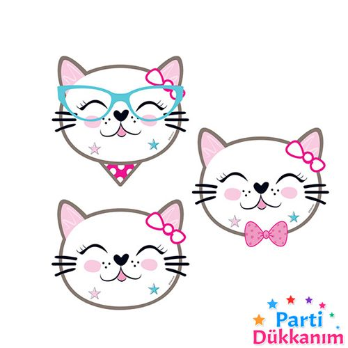 Miss Cat Kedi Tema Aksesuarı 8 Adet, fiyatı