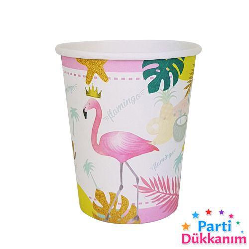 Flamingo Taçlı Bardak 8 adet, fiyatı