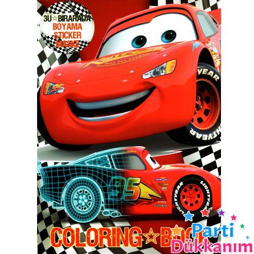 Cars Boyama Kitabi Stickerli 16 Sayfa