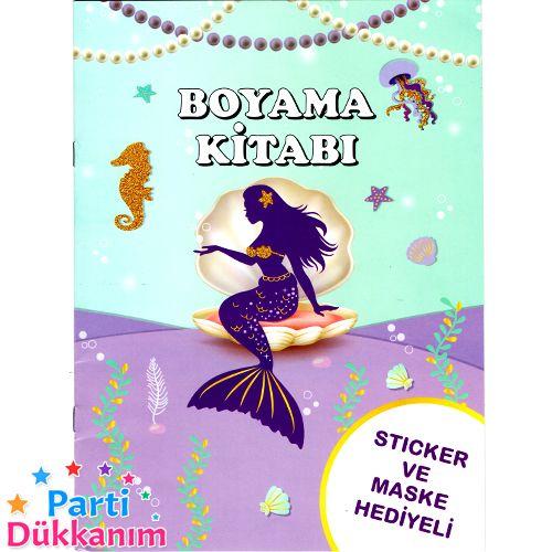 Deniz Kizi Ariel Boyama Kitabi Stickerli 16 Sayfa