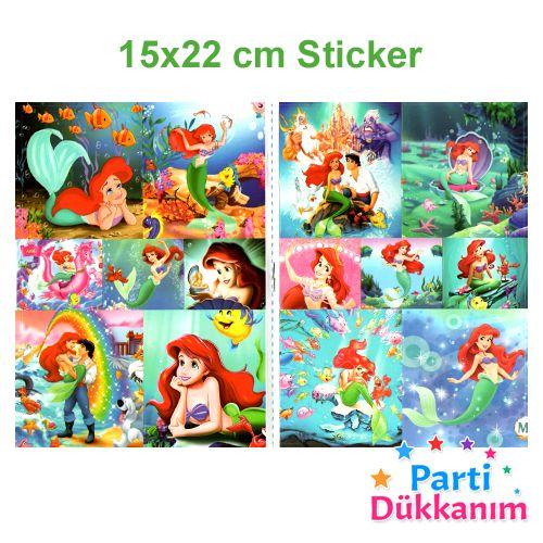 Deniz Kızı Ariel Boyama Kitabı Stickerlı (16 Sayfa), fiyatı