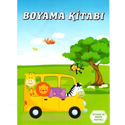 Safari Boyama Kitabı Stickerlı (16 Sayfa), fiyatı