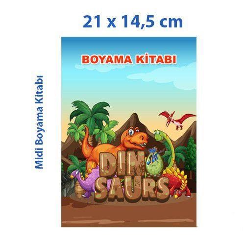 Dinozor Boyama Kitabı 16 Sayfa 21x14,5 cm, fiyatı