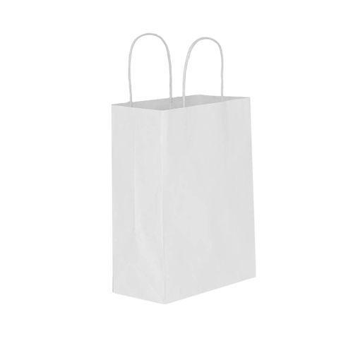 Büküm Saplı Beyaz Kağıt Çanta 18x22 cm, fiyatı