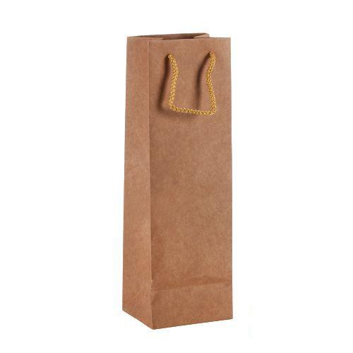 Şişe Boy Kraft Kağıt Çanta 38x12x12 cm, fiyatı