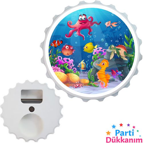Deniz Canlıları Açacak Magnet 7cm, fiyatı