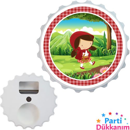 Kırmızı Başlıklı Kız Açacak Magnet 7cm, fiyatı