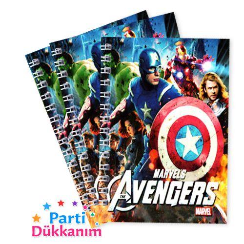 Avengers Yenilmezler Not Defteri 4 Ad (9x13 cm) 50s, fiyatı