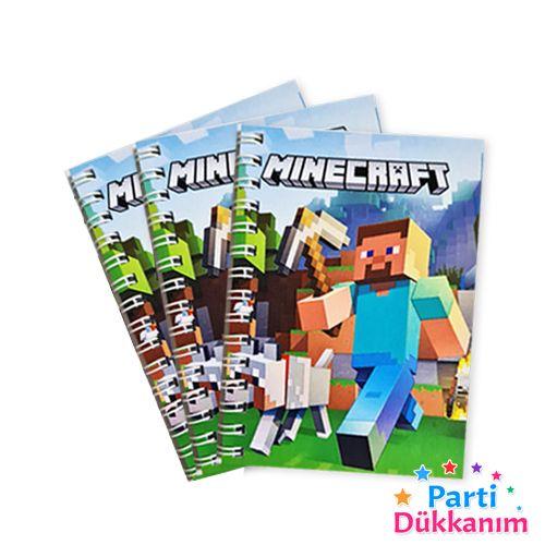 Minecraft Hediyelik Not Defteri 3 Ad (9x13 cm) 50s, fiyatı