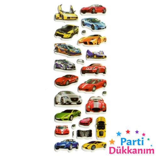 Arabalar Sticker 7x17 cm, fiyatı