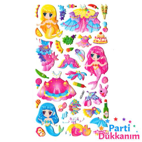 Deniz Kızı Sticker  9x17 cm, fiyatı