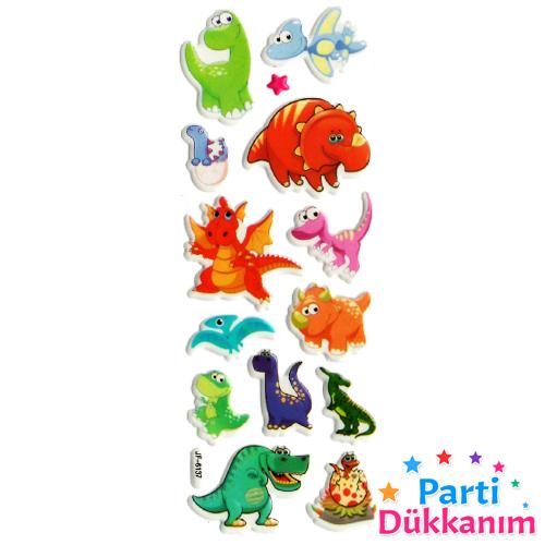 Dinozor Sticker 7x17 cm, fiyatı