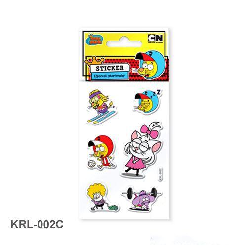 Kral Şakir Kabartmalı Sticker (7x11 cm), fiyatı