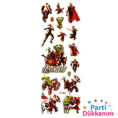 Yenilmezler Sticker 7x17 cm, fiyatı
