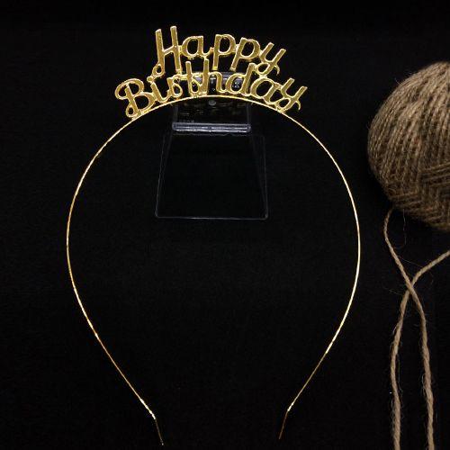 Happy Birthday Metal Taç Gold, fiyatı