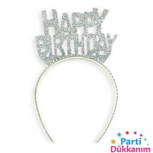 Happy Birthday Simli Eva Taç Gümüş, fiyatı