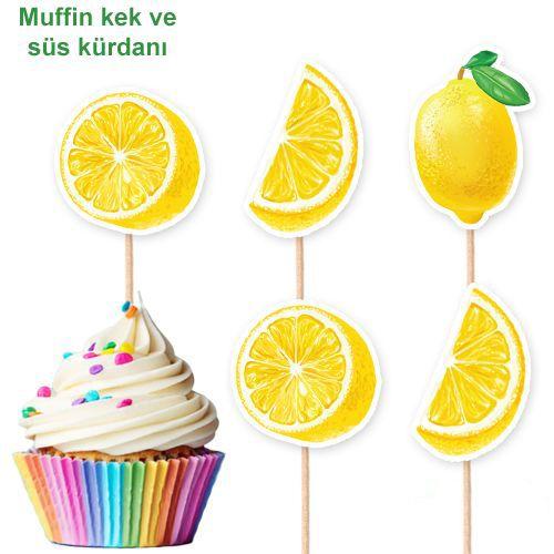 Limon Temalı Şekilli Kürdan 10 Adet, fiyatı