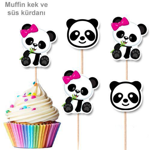 Panda Pembe Fiyonklu Şekilli Kürdan 10 Adet, fiyatı