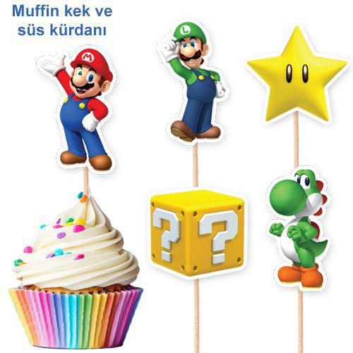 Süper Mario Şekilli Kürdan 10 Adet, fiyatı