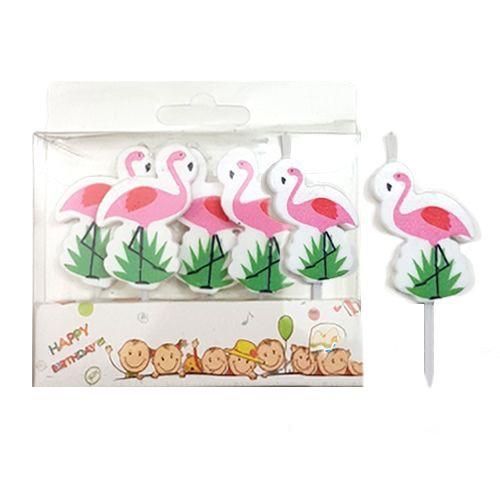 Flamingo Figürlü Mum 5 Adet, fiyatı