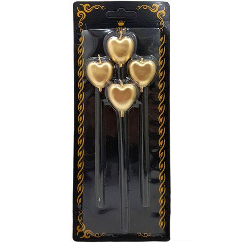 Kalpli Çubuklu Mum Gold (4 Adet), fiyatı