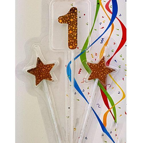 1 Rakam Mum Yıldızlı Gold 3'lü, fiyatı