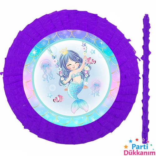 Deniz Kızı Little Pinyata 42 cm + Sopası, fiyatı